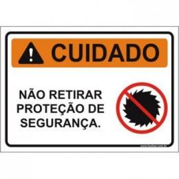 Não retirar proteção de segurança