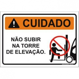 Não subir na torre de elevação