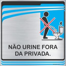 Placa Não Urine Fora da Privada (15x15cm)