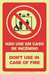 Não Use em Caso de Incêndio