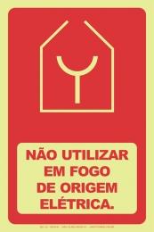 Não Uttilizar em Fogo de Origem Elétrica