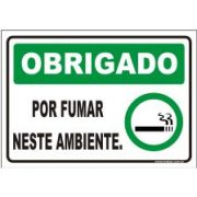 Obrigado por fumar neste ambiente