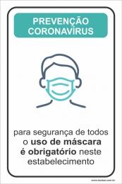 Obrigatório o Uso de Máscara