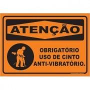 Obrigatório Uso de Cinto Anti-vibratório