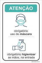 Obrigatório uso de máscara e higienizar as mãos