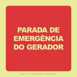 Parada de Emergência do Gerador
