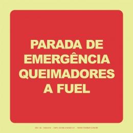 Parada de Emergência Queimadores a Fuel