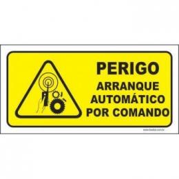 Perigo arranque automático por comando