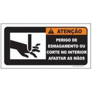 Perigo de esmagamento ou corte