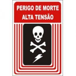 perigo de morte alta tensão