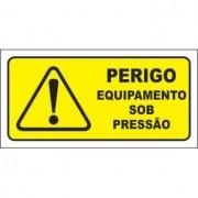 Perigo equipamento sob pressão