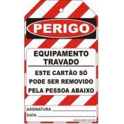Perigo especial - equipamento travado só pode ser removido pela pessoa abaixo