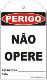 Perigo - Não opere