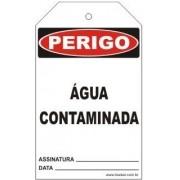 Perigo - Não opere água contaminada