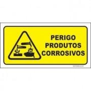 Perigo produtos corrosivos