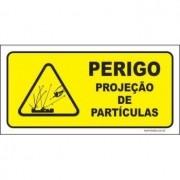 Perigo projeção de partículas
