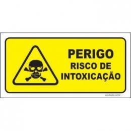 Perigo risco de intoxicação