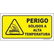 Perigo sólidos a alta temperatura