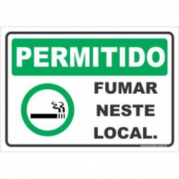 Permitido fumar neste local