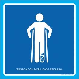 Placa pessoa com mobilidade reduzida