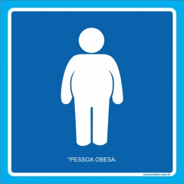 Placa pessoa obesa