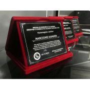Placa de Homenagem em ACM gravado com estojo