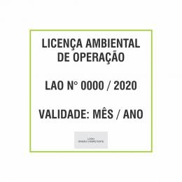 Placa Licença ambiental de operação