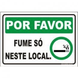 Por favor fume só neste local