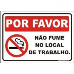 Por favor não fume no local de trabalho