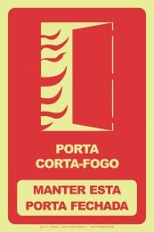 Porta Corta-Fogo - Manter Esta Porta Fechada