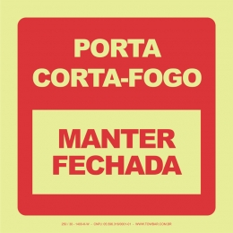 Porta Corta-Fogo - Manter Fechada