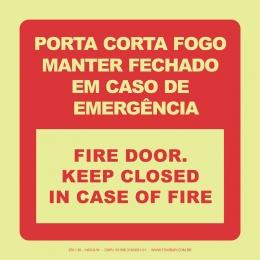 Porta Corta-Fogo Manter Fechado em Caso de Emergência