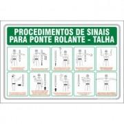Procedimentos de sinais para ponte rolante