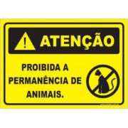 Proibido a permanência de animais