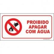 Proibido apagar com água