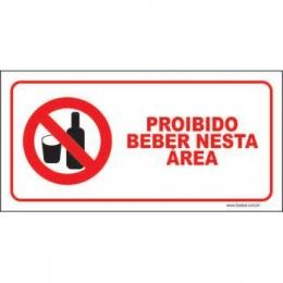 Proibido beber nesta área