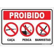 Proibido caça, pescas e banhista
