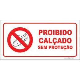 Proibido calçado sem proteção
