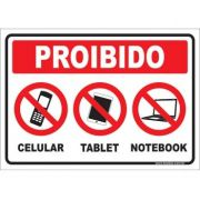 Proibido celular tablet notebook
