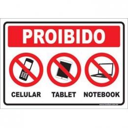 Proibido celular tablet notebook
