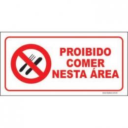 Proibido comer nesta área