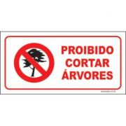 Proibido cortar árvores