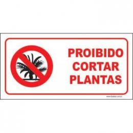 Proibido cortar plantas