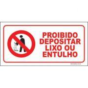 Proibido depositar lixo ou entulhos