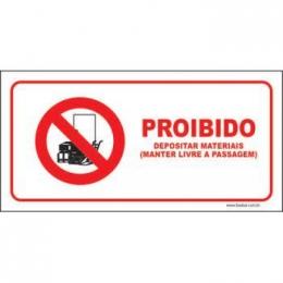 Proibido depositar materiais