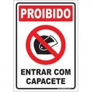 Proibido entrar com capacete