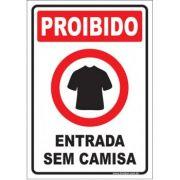 Proibido entrar sem camisa