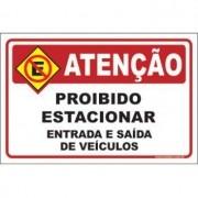 Proibido estacionar entrada e saída