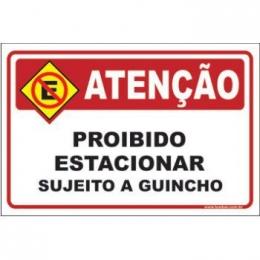 Proibido estacionar sujeito a guincho