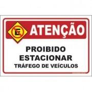 Proibido estacionar tráfego de veículos